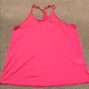 Hot pink nike dry fit tank